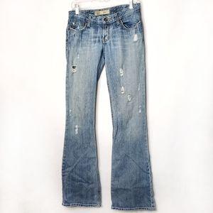 BKE Star Y2k Vtg Flare Low Rise Jeans Size 28L